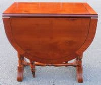 Yew  Small Dropleaf Oval Coffee Table